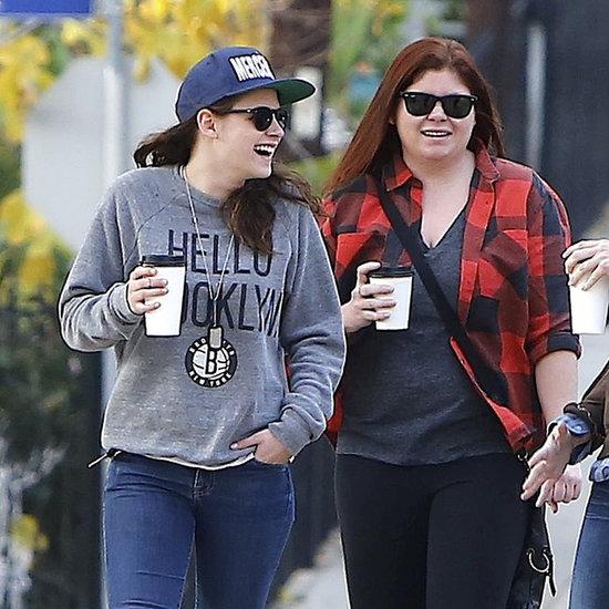 Kristen Stewart in a Brooklyn Nets Sweatshirt