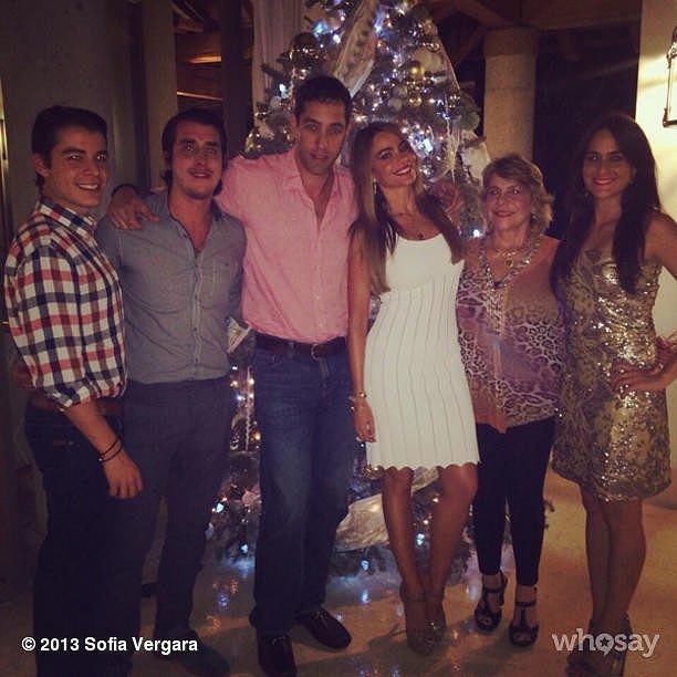 Sofia Vergara celebrated Christmas Eve with her family. Source: Instagram user sofiavergara
