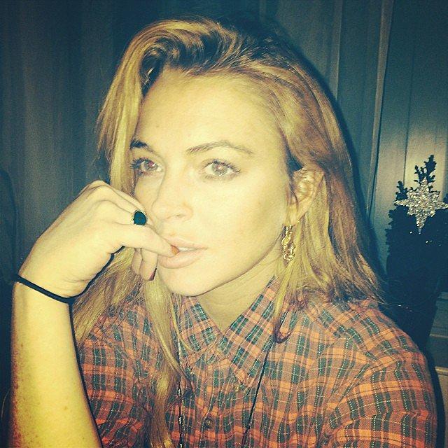 "Lindsay Lohan said ""Joyeux Noel"" with an Instagram snap. Source: Instagram user lindsaylohan"