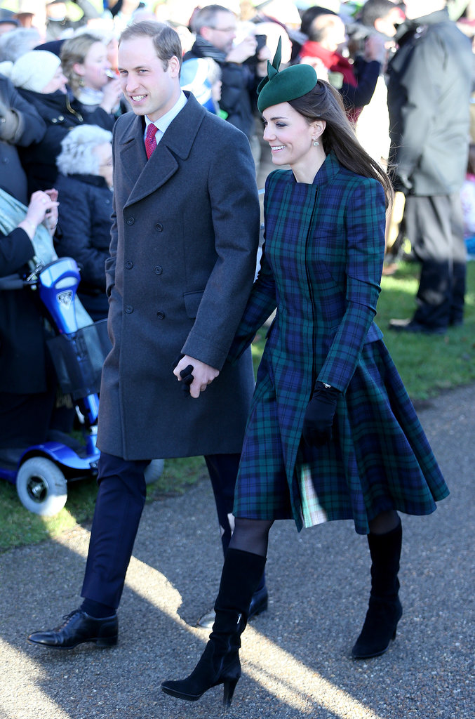 Kate Middleton and Prince William held hands when they attended Christmas Day services in the UK.