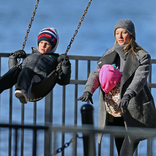 Tom Brady and Gisele Bundchen Family Christmas 2013