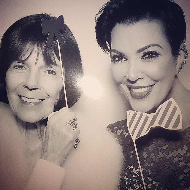 Photo of Kris Jenner & her Mother  Mary Jo Shannon