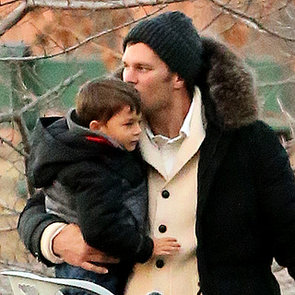 Tom Brady Rides a Park Slide With His Son | Pictures