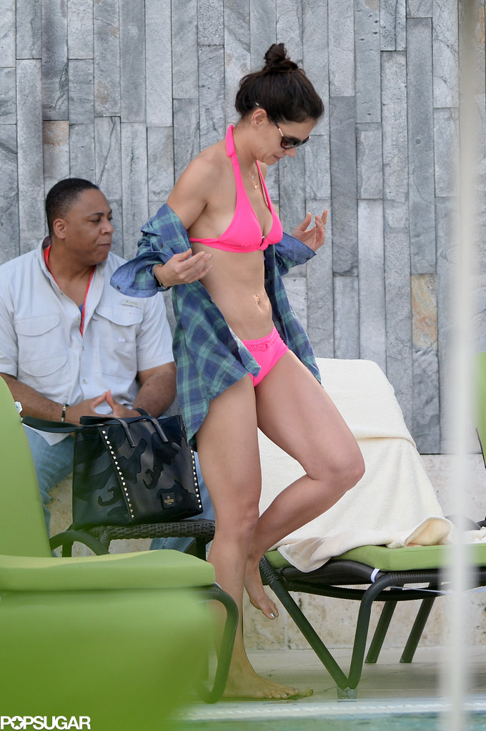 Katie Holmes flaunted her bikini body in Florida.