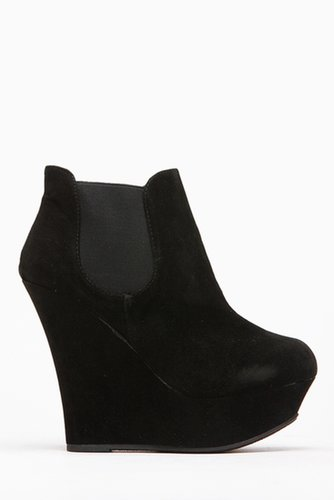 Bamboo Faux Suede Pamela Black Bootie @ Cicihot. Booties spell style, so if you want to show what you're made of, pick up a pair