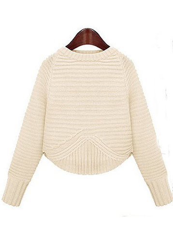 Round Neck Dolman Sleeve Sweater