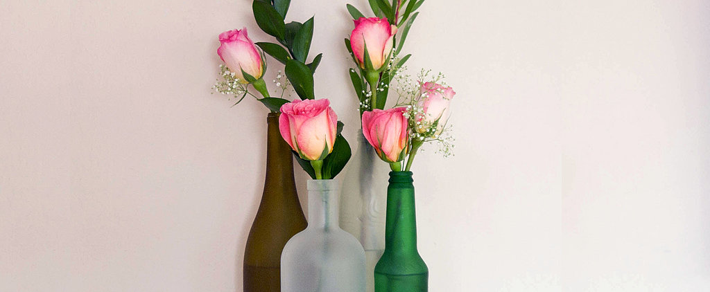 Turn Boring Bottles Into Chic Frosted Vases