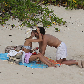 Engaged Olivia Palermo & Johannes Huebl On The Beach