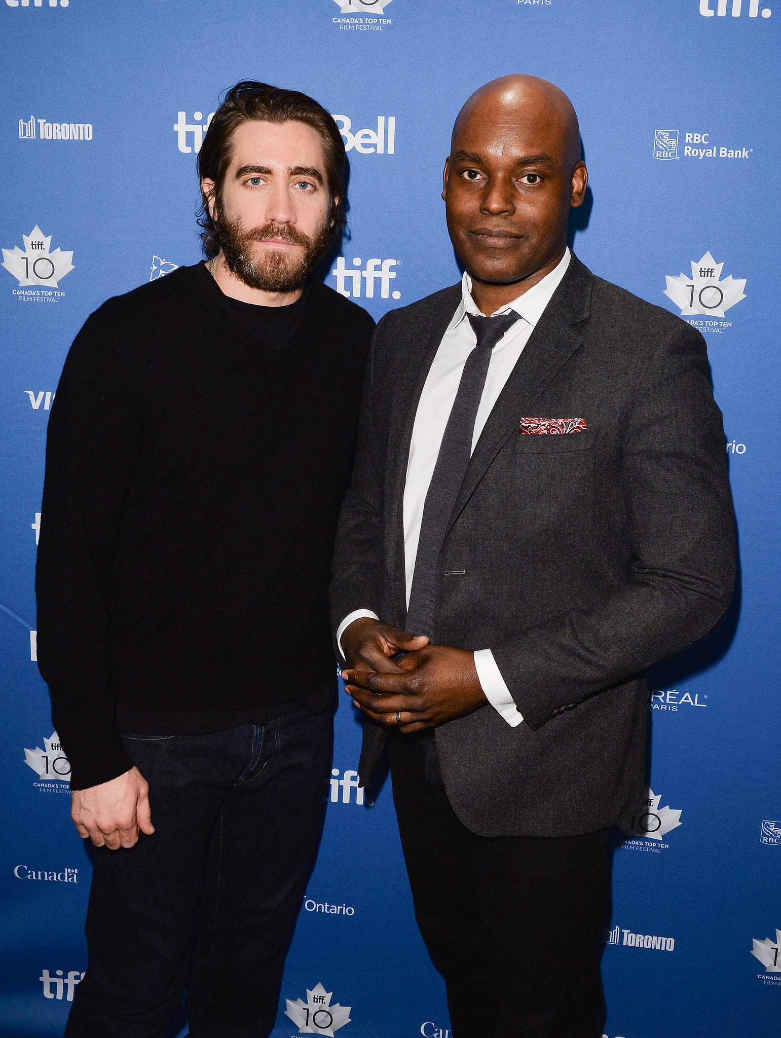 Jake posed for a snap with Cameron Bailey, the artistic director of the Toronto International Film Festival.