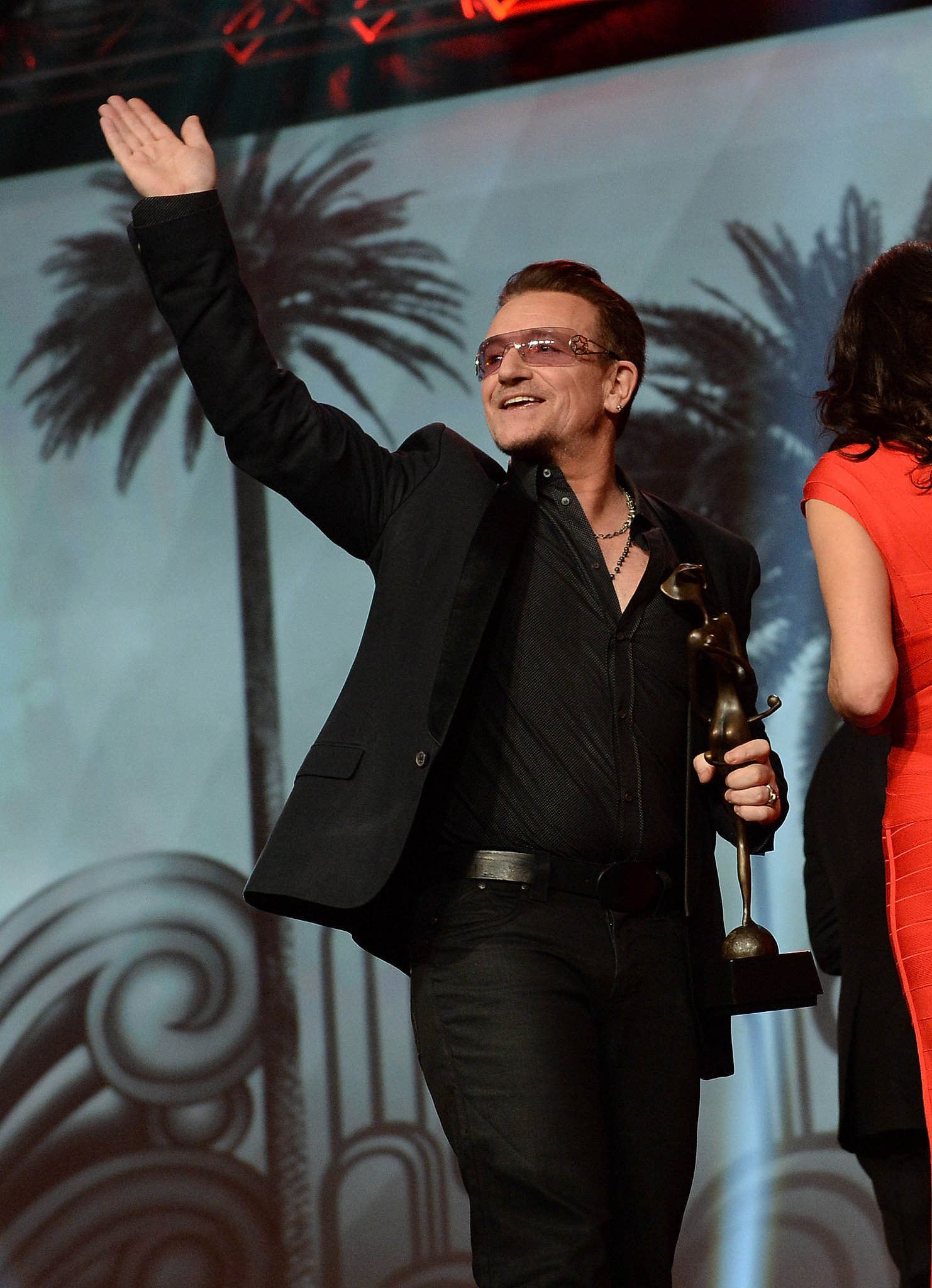 U2's Bono and The Edge were on hand to accept the Sonny Bono visionary award.