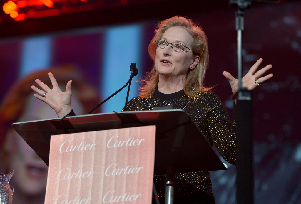 "Meryl Streep joked that as the night's final honoree, she was ""either at the top of the heap or the bottom of the barrel."""