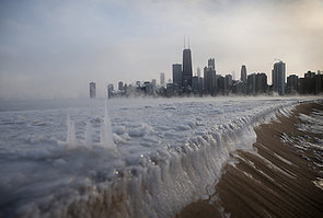 Ice-built-up-along-North-Avenue-Beach-Chicago