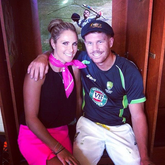 Candice Falzon congratulated her boyfriend David Warner on Australia's Ashes victory. Source: Instagram user candyfalzon