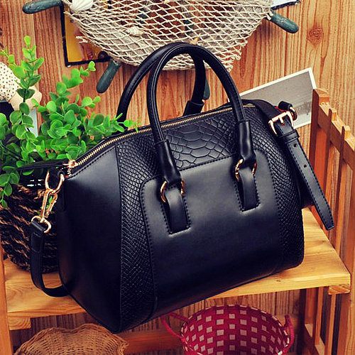 Image of [grxjy520163]Elegant Retro Gorgeous Crocodile Emboss Handbag