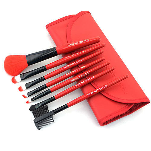 ]Professional Cosmetic Makeup Brush Set with Red Bag