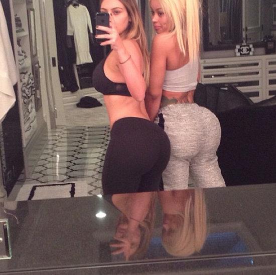 Kim Kardashian and Blac Chyna's Butts on Instagram