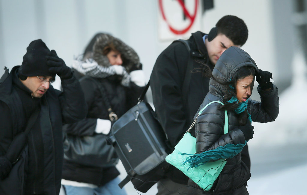 People struggled as they moved through the Windy City, with windchill temperatures dipping to -45 degrees.