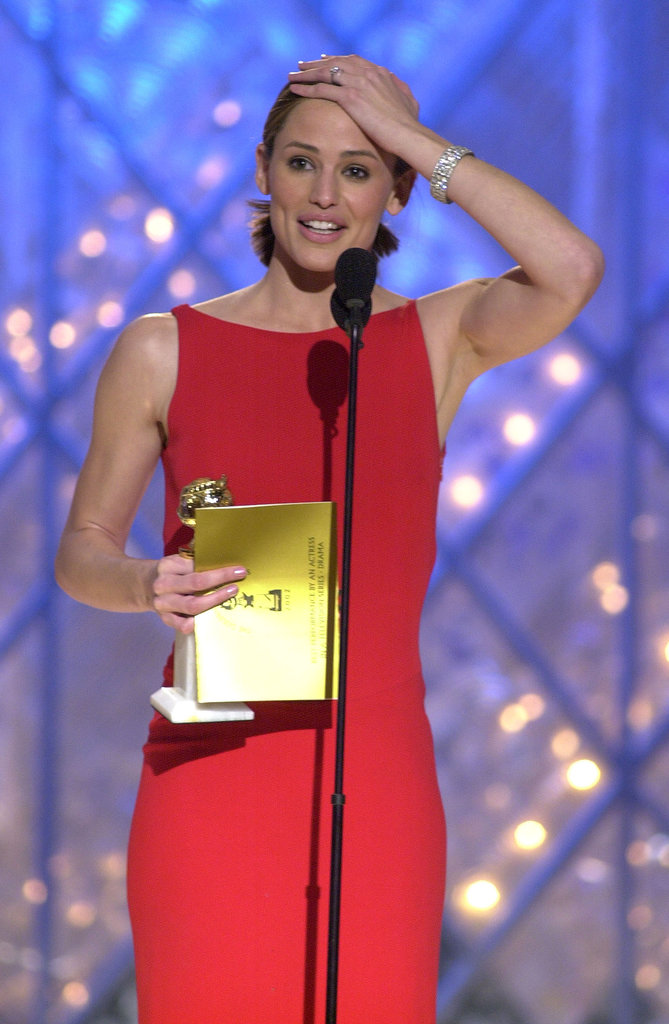 Jennifer Garner was all smiles as she accepted the award for best actress for her role in Alias in 2002.