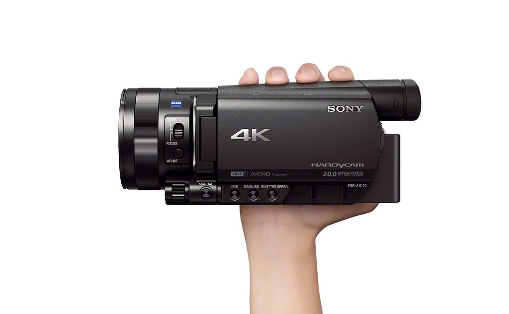 sony 4k handycam fdr ax100 popsugar tech. Black Bedroom Furniture Sets. Home Design Ideas