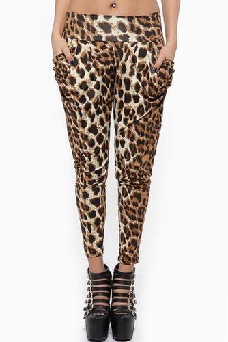 Leopard Print Fancy Harem Pants
