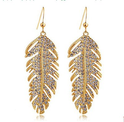 Cute elegant leaf woman earrings
