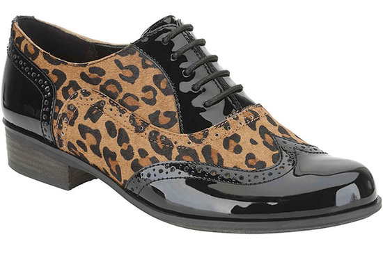 Clarks Animal-Print Patent Brogues | Sale Shoes