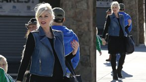 Gwen Stefani Makes the Denim Vest Work For Winter