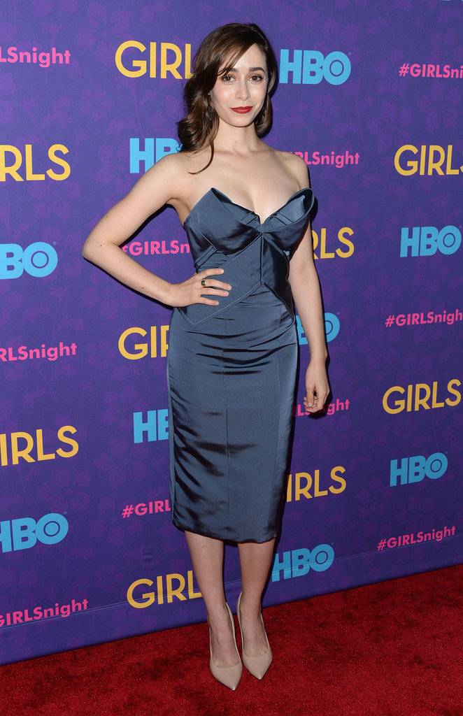 """The mother,"" aka How I Met Your Mother's Cristin Milioti, stunned in blue."
