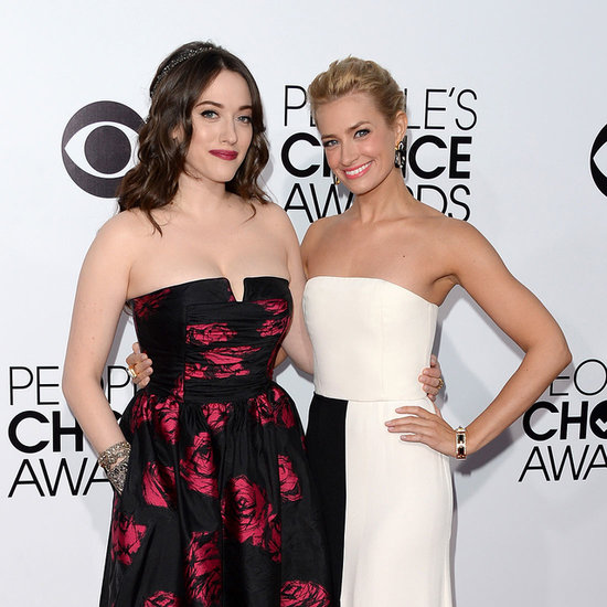 Kat Dennings and Beth Behrs People's Choice Awards 2014