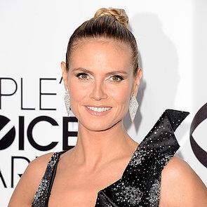 Heidi Klum Hair and Makeup at People's Choice Awards 2014