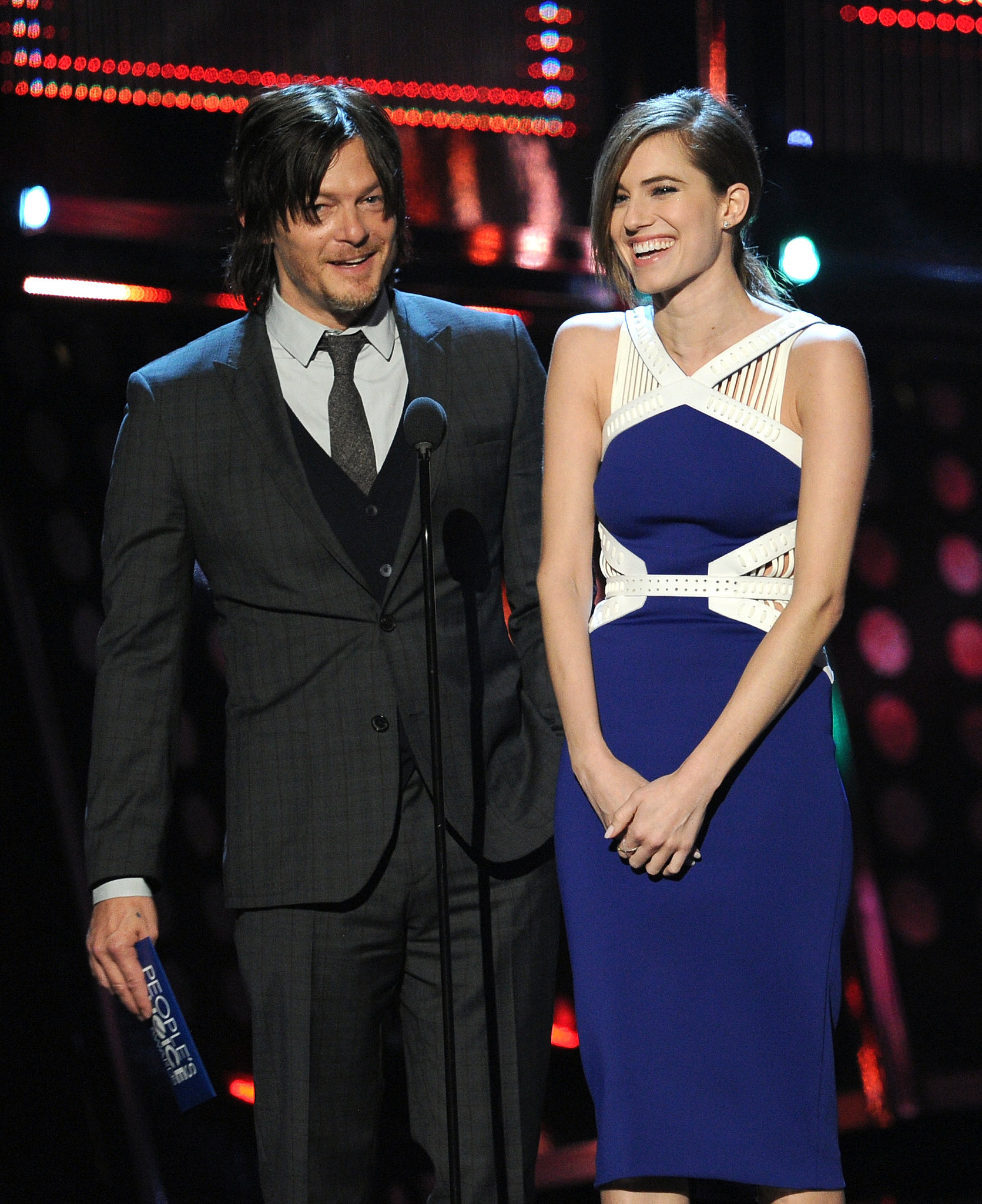 """Allison Williams joked about """"getting a lot of action"""" on Girls while presenting with Norman Reedus."""