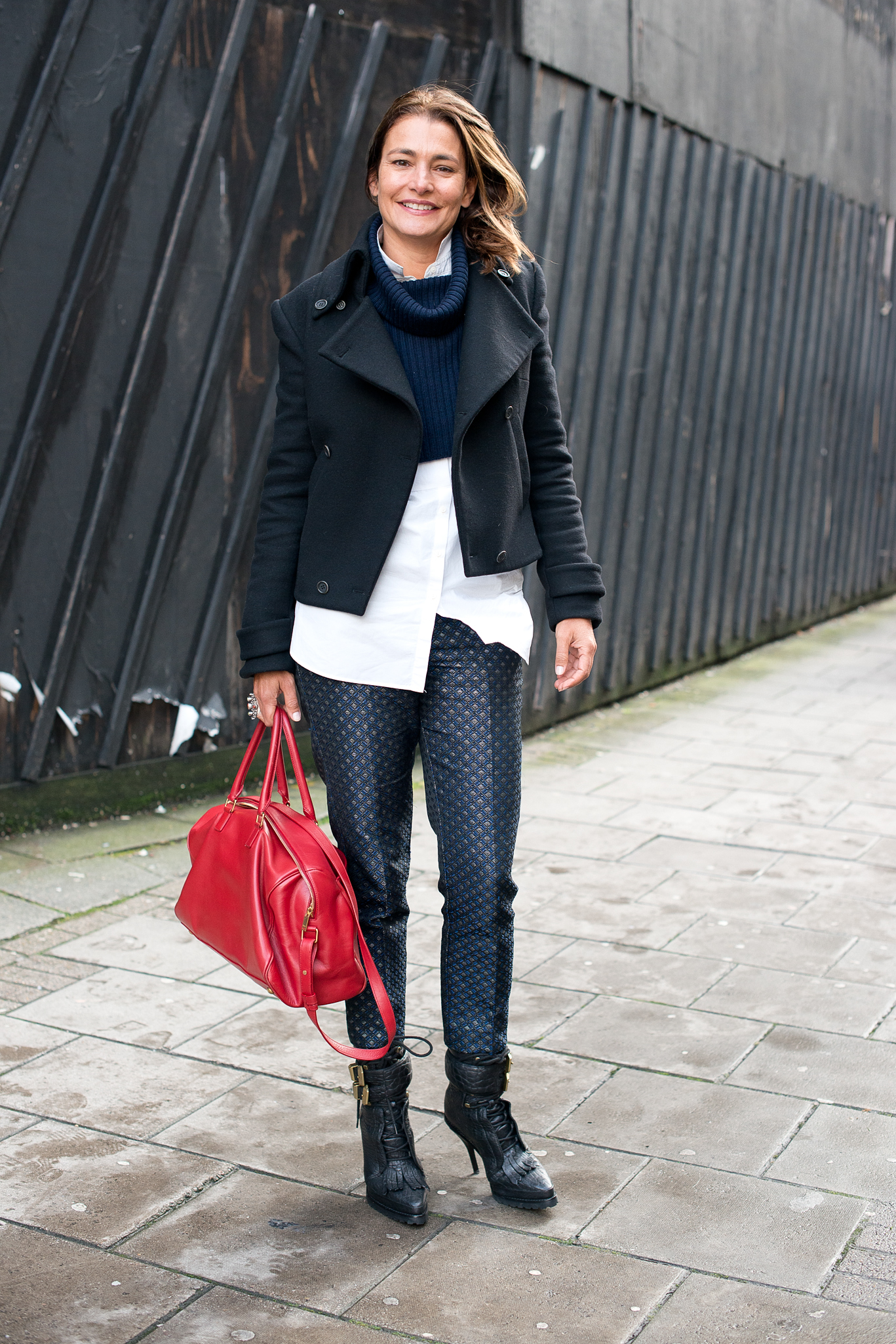 It's all about playful proportion in this look.