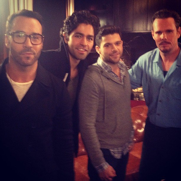 The boys of Entourage — Jeremy Piven, Adrian Grenier, Jerry Ferrara, and Kevin Dillon — posed together for this snap. Source: Instagram user howulivinjpiven