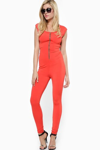 Zip Me Up Orange Jumpsuit