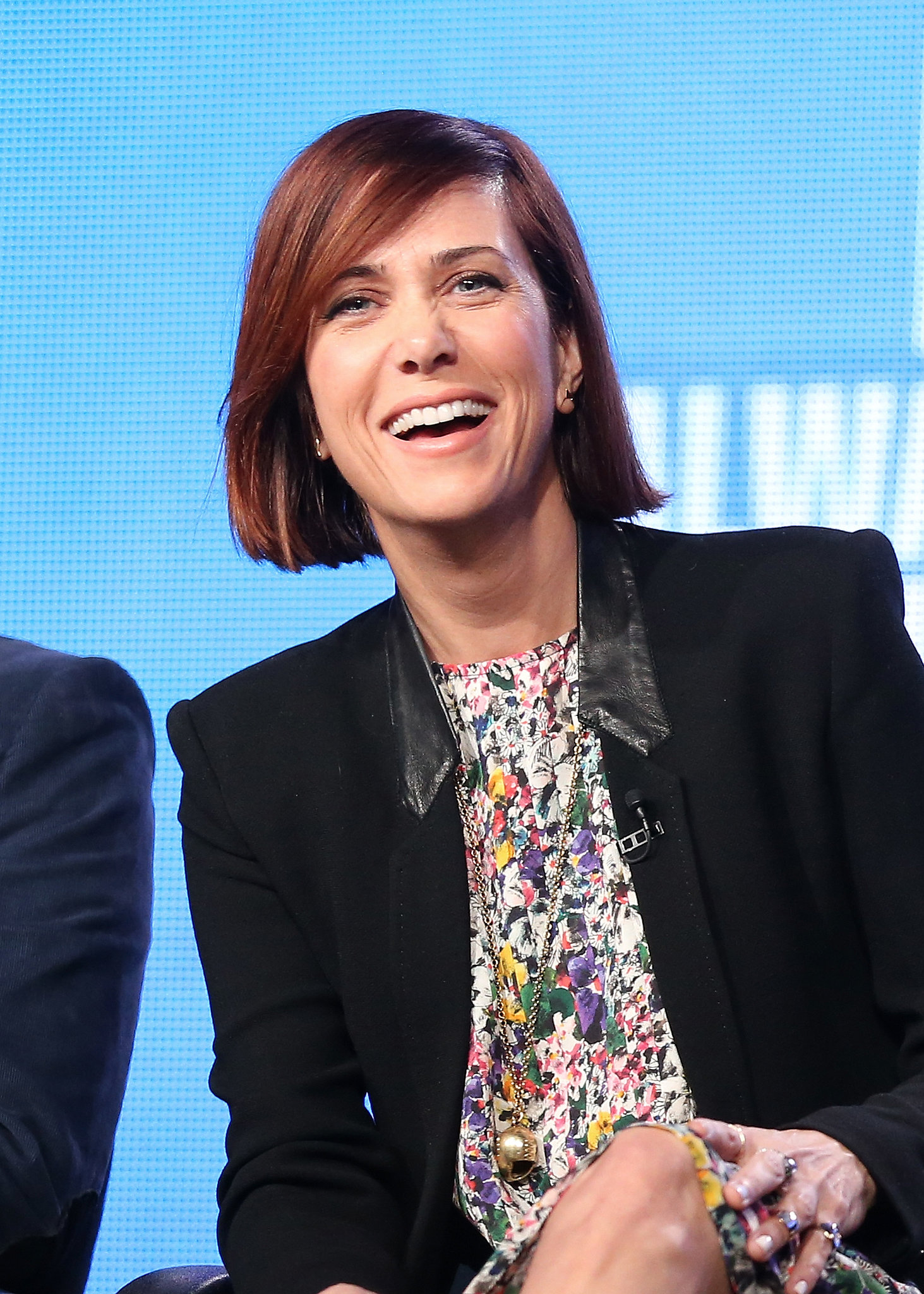 Kristen Wiig was all smiles on stage.