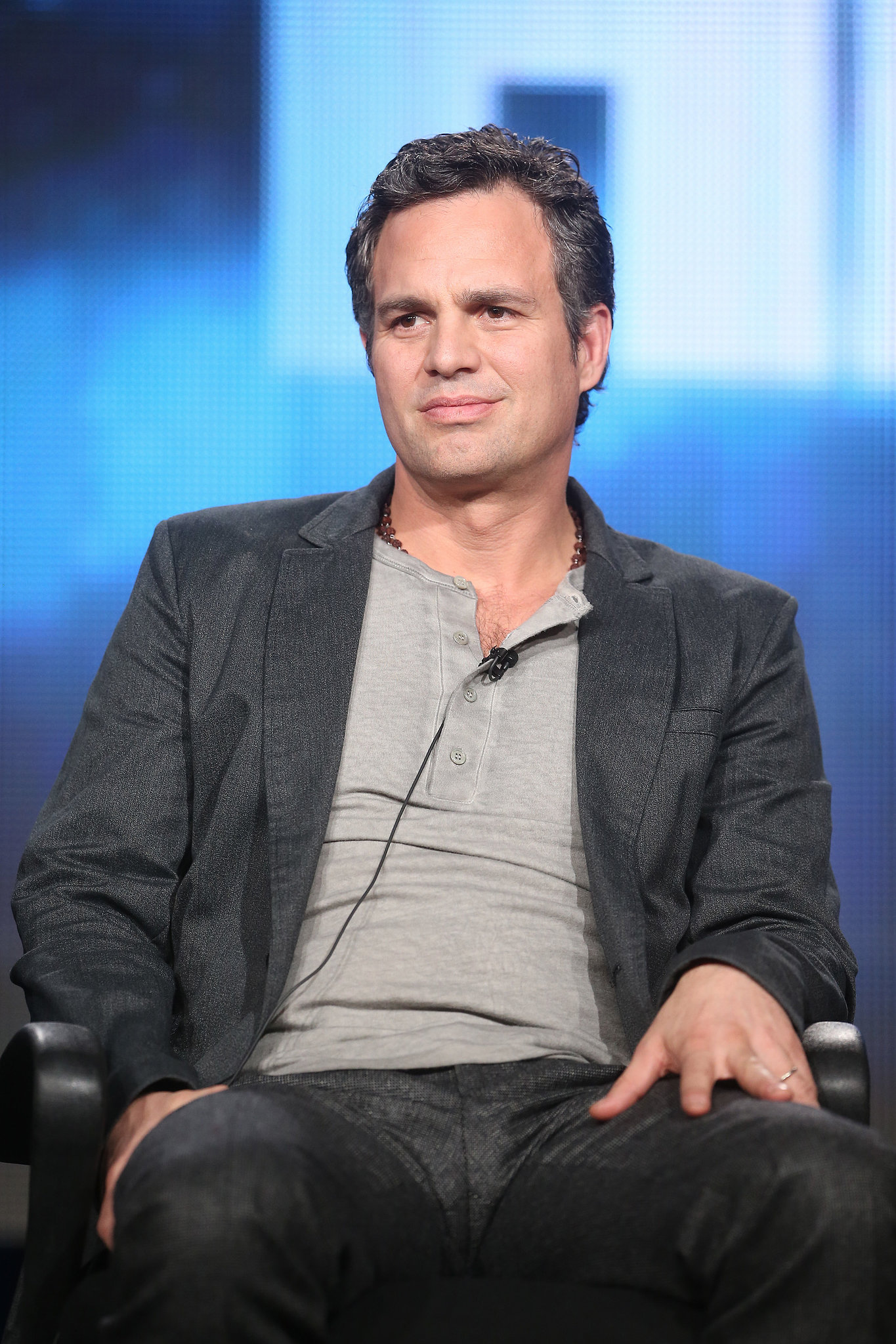 Mark Ruffalo looked perplexed during his Winter TCA panel.