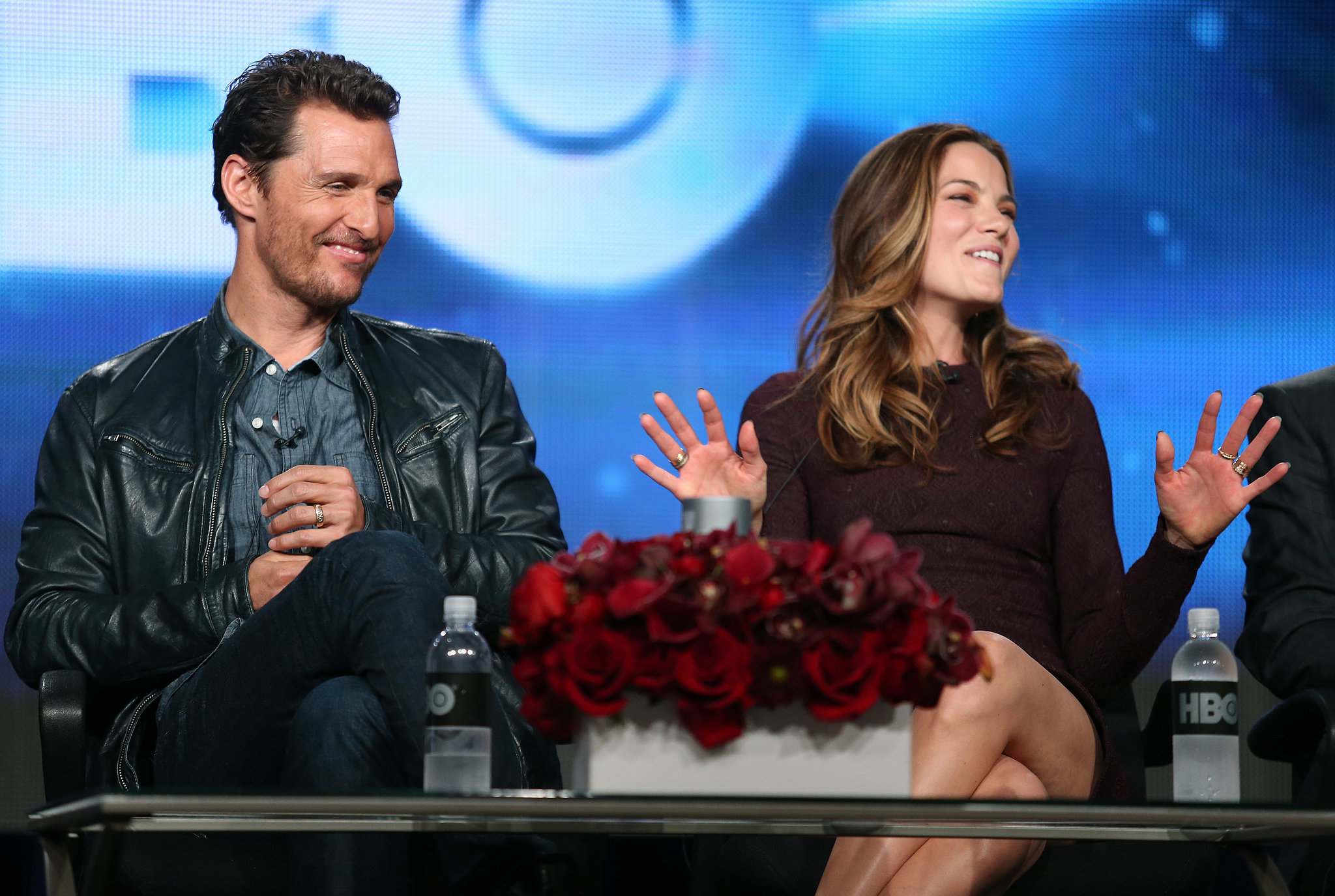 Matthew McConaughey and Michelle Monaghan got animated together.