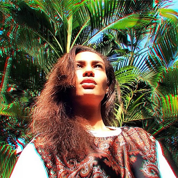Things were looking up for Joan Smalls on vacation in Jamaica. Source: Instagram user joansmalls