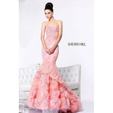 Sherri Hill 21014 Blush Prom Dress