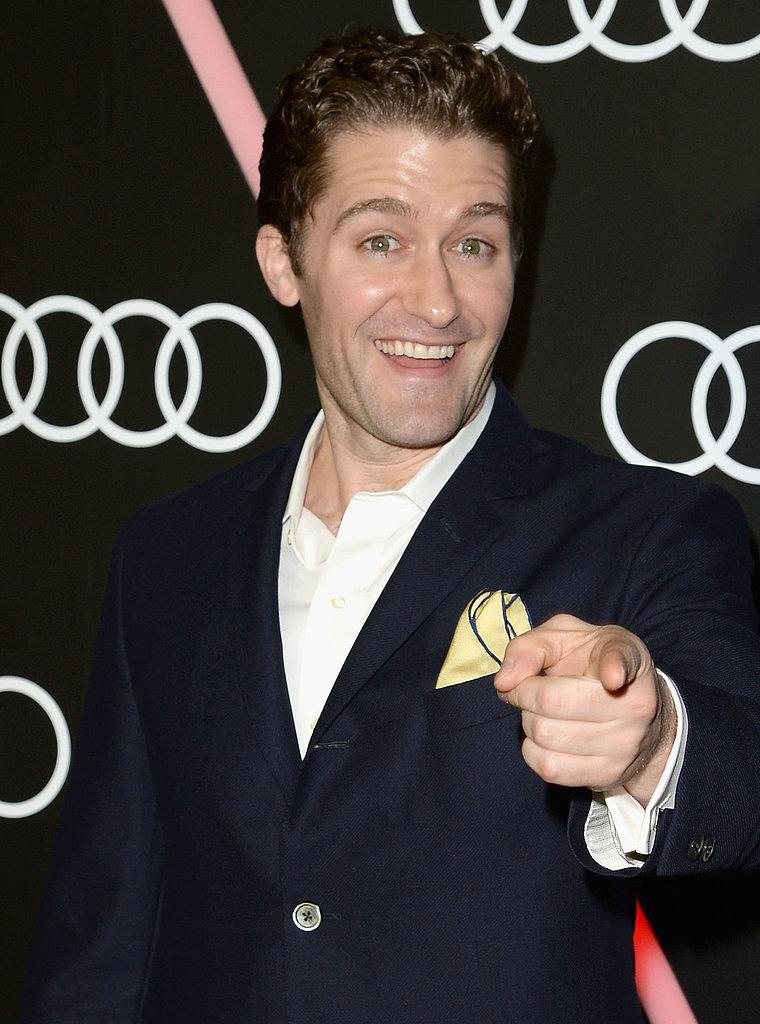 Glee's Matthew Morrison hammed it up on the red carpet.