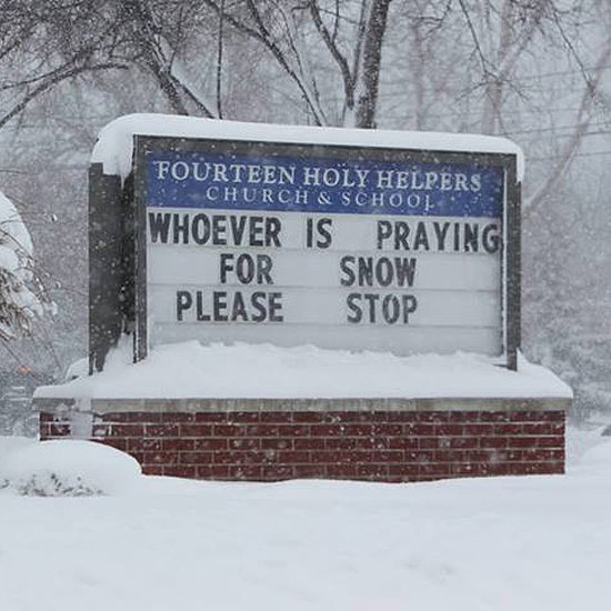 Funny Church Sign During the Polar Vortex | Picture