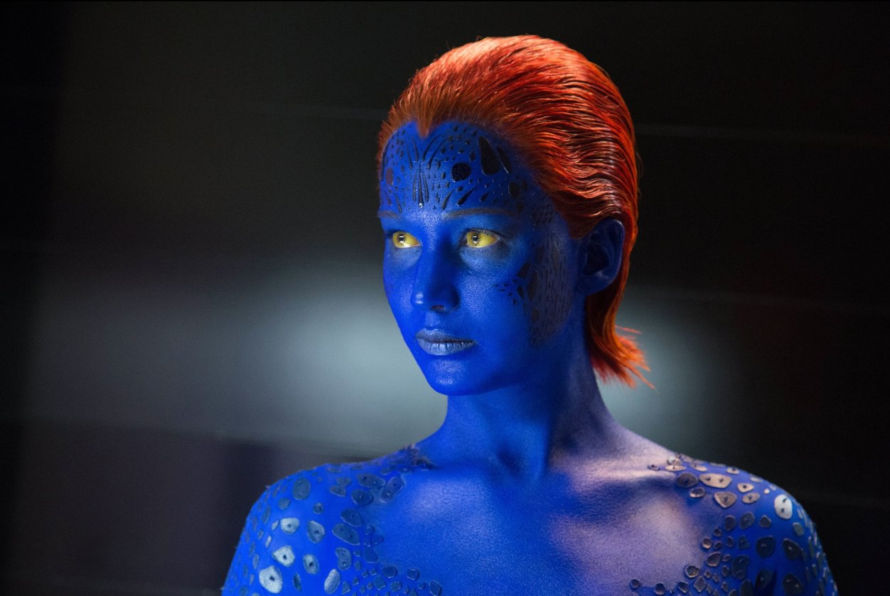Mystique's glamour shot is pretty impressive.