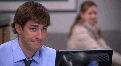 Platonic friends or not, Jim and Pam can't stop exchanging cutesy glances.