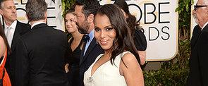 2014 Golden Globes: Kerry Washington Debuts Her Baby Bump in Balenciaga