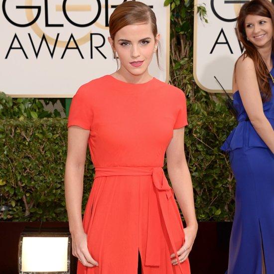 Emma Watson Dress on Golden Globes 2014 Red Carpet