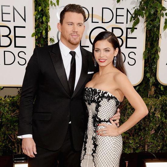 Channing Tatum and Jenna Dewan at 2014 Golden Globes