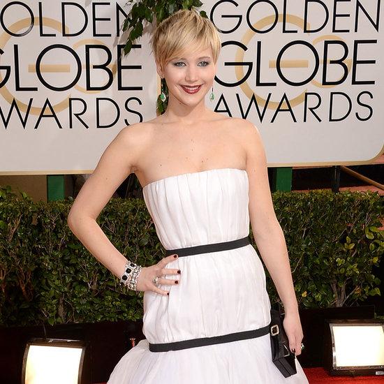 Jennifer Lawrence Dress on Golden Globes 2014 Red Carpet
