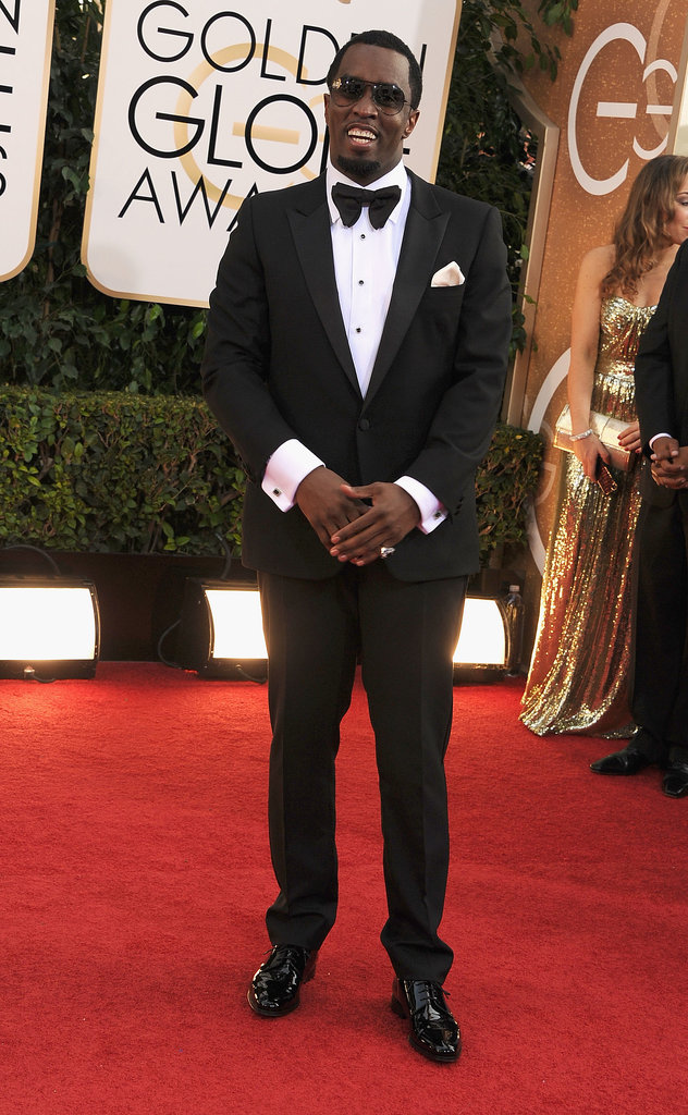 Diddy kept things dapper at the Golden Globes.