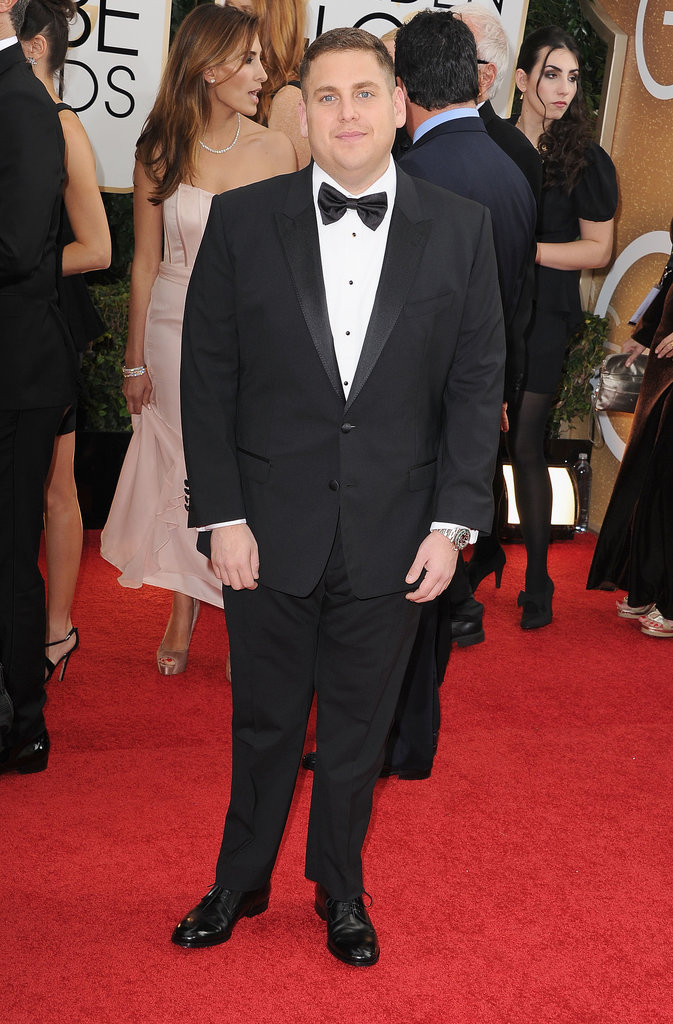 Jonah Hill suited up for the Golden Globes.