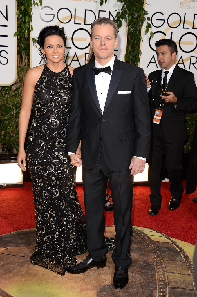 "Matt Damon Gets Branded the Globes ""Garbage Man"""